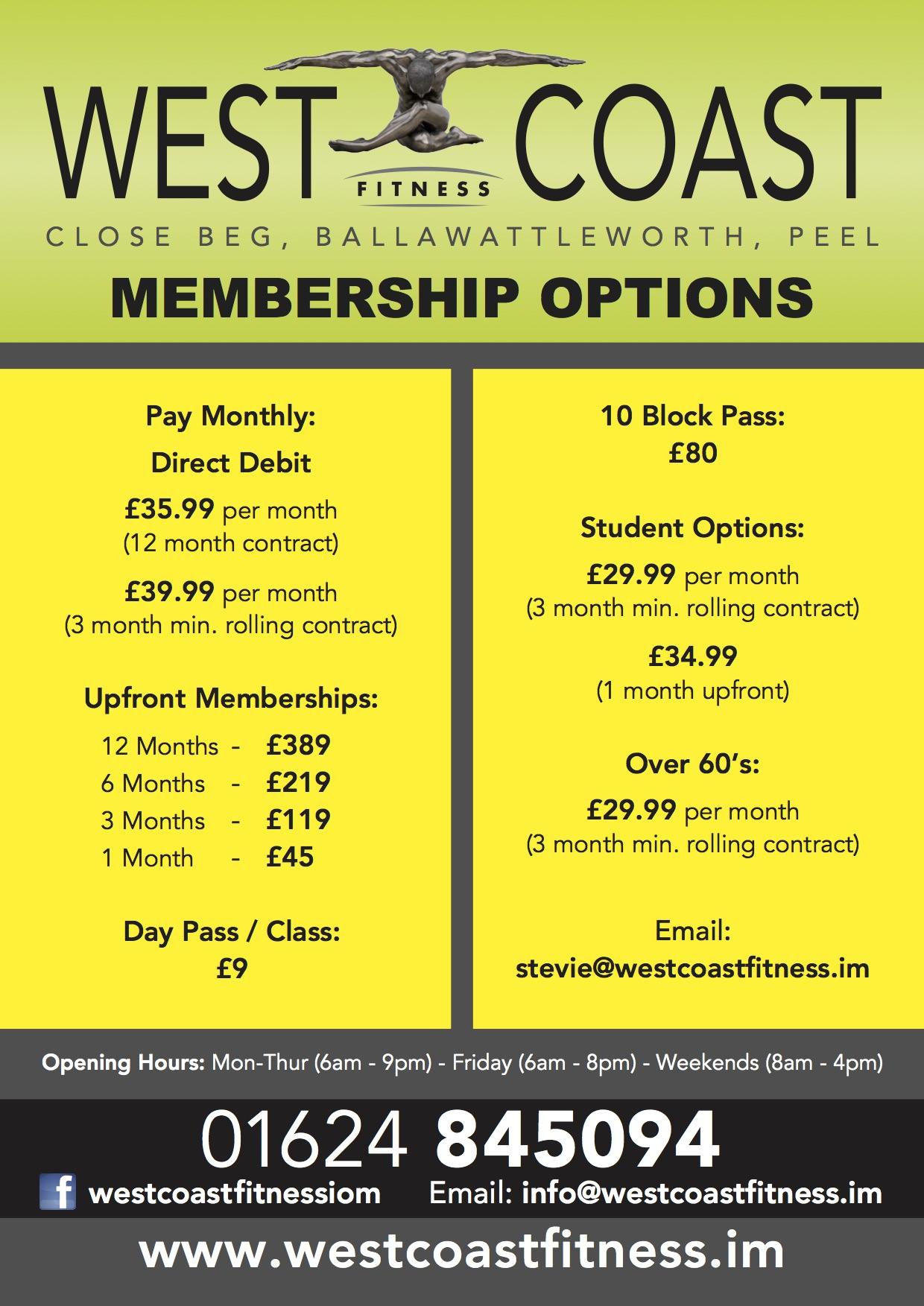 Membership Options FINAL